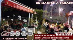 """Ven a disfrutar de tus cenas """"AL FRESCO """" en la Balsa Redonda del Valle, además tenemos actuaciones musicales en Directo, bailes y copas ¡ te esperamos ! Reservas 968607244"""