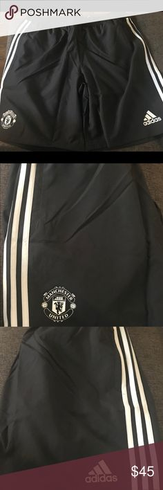 6e8629656 BNWT Authentic Adidas Man U Training Shorts Light weight soccer training  shorts for worldwide football power