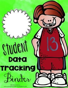 """Free Student Data Tracking Binder Covers and Binder Spines...Follow for Free """"too-neat-not-to-keep"""" teaching tools & other fun stuff :)"""