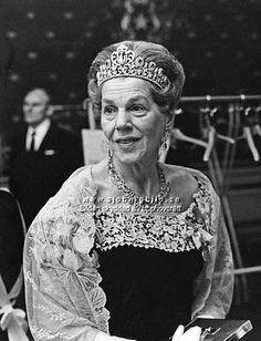 Countess Estelle Bernadotte wearing pink tourmalines