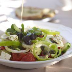 """Indulge in fine Greek and Mediterranean cuisine"" Atrium Hotel Skiathos, Caprese Salad, Fine Dining, Greek, Food, Kitchens, Greek Language, Meals, Yemek"