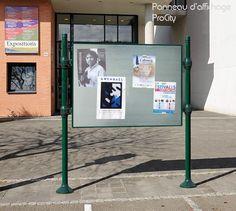 Panneau d'affichage libre double face, affichage 122.5 x 167 cm, Design ProCity