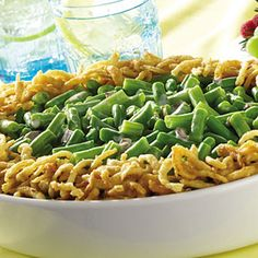 MIX soup, milk and pepper in a 1 1/2 -qt. baking dish. Stir in beans and 2/3 cup French Fried Onions.
