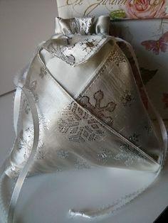 Sparkle Evening Pouch Origami Bag Petal Bag Evening Bag Bridal Bag Bridesmaid Bag Wedding New Years Eve Holiday Party Drawstring Handmade