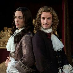 The two Philippes...Alexander Vlahos as Monsieur Philippe Duc D'Orleans & Evan Williams as the Chevalier de Lorraine in Season two of the canal+ series Versailles