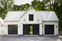 40 Best Detached Garage Model For Your Wonderful House Find more ideas: Farmhouse Detached Garage With Apartment Small Detached Garage Makeover Plans 2 Car Simple Detached Garage Ideas Modern Detached Garage With Breezeway Large Backyard Detached Garage Garage House, Barn Garage, Garage Doors, Garage Signs, Diy Garage, Detached Garage Designs, Garage Door Design, Detached Garage Plans, Building A Shed