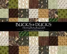 Baby Rag Quilt BUCKS & DUCKS™ Exclusively from OCKBaby by OCKBaby