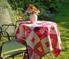 Kaffe Fassett fabric tablecloth