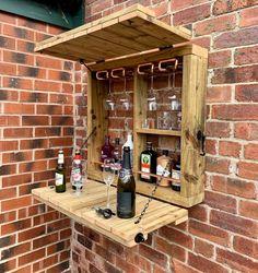 Copper Pipe Shelves, Murphy Bar, Copper Wood, Bar Shed, Wooden Garden, Tiered Garden, Wall Bar, Garden In The Woods, Serving Table
