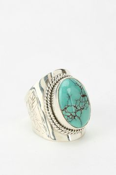 Adorn By Sarah Lewis Turquoise Flower Ring #urbanoutfitters