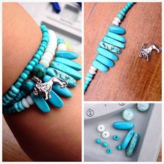 Fun lion bracelet from S Lipp! Stretch Bracelets, Beaded Bracelets, Lion Bracelet, Craft Tutorials, Anklets, Turquoise Bracelet, Jewelery, Arts And Crafts, Photo And Video