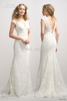 Wholesale Luxurious cap sleeve sexy deep V neckline mermaid lace white summer church wedding dresses BM-652, $147.77-185.4/Piece | DHgate