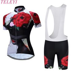 TELEYI Caitlin Summer Breathable Women Mountian Bike Clothing Quick-Dry Bicycle Clothes Ropa Ciclismo Girls Cycling Jersey