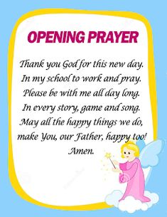 Opening and Closing Prayers in School (Ready to Print) - DepedClick Classroom Prayer, Classroom Door Signs, Classroom Charts, Classroom Quotes, Classroom Decor, Closing Prayer, Opening Prayer, Funny Songs For Kids, Elementary Bulletin Boards