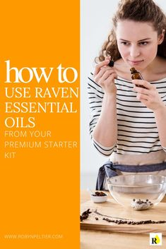 Raven essential oil is a unique blend of Ravintsara, Lemon, Wintergreen, Peppermint & Eucalyptus Radiata. Learn how to use Raven (from Young Livings Premium Starter Kit) and it's health benefits. Best Smelling Essential Oils, Essential Oils Cleaning, Essential Oils For Skin, Essential Oil Uses, Raven Essential Oil, Ravintsara, Carrier Oils, Beauty Recipe, Starter Kit