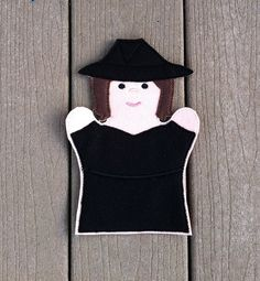 Witch  Halloween Hand Puppet   KiD SiZe by ThatsSewPersonal, $7.50