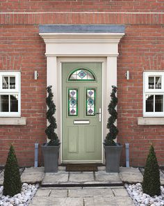 Riviera In Chartwell Green With Dorchester Glass