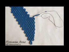 """Славянка"" (Горизонтальное плетение)/Necklace beaded kerchief ""Slavyanka"" (horizontal weave) - YouTube"
