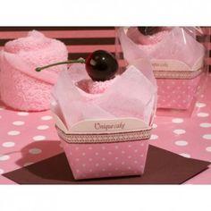Asciugamano a forma di cupcake di colore rosa