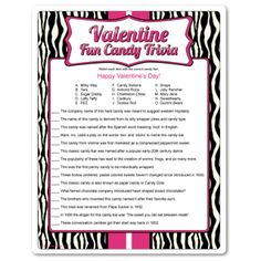 valentine's day newlywed game