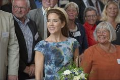 Crown Princess Mary attended the opening of a new psychiatric hospital in Slagelse on August 24, 2015.