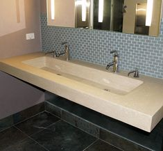 Trough Sink for Bathroom, Custom Commercial Trough Sinks, Bath Room ...