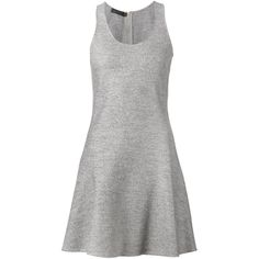 Calvin Klein Collection Sleeveless Mini Dress (19 120 ZAR) ❤ liked on Polyvore featuring dresses, grey, short grey dress, calvin klein collection, calvin klein collection dresses, wool dress and no sleeve dress