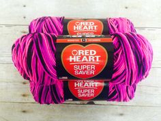 """Super Saver Yarn  Enter to win Super Saver Yarn! One lucky winner will receive 3 skeins of Red Heart Super Saver yarn in """"Panther Pink."""" The deadline to enter is May 31, 2015 at 11:59:59 p.m. Eastern Time"""