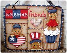 Hp-Pan-de-Jengibre-bienvenidos-Amigos-Americana-Colgante-De-Pared