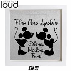 Holiday Funds Money Box Frame £18.99(+p&p)  Personalised, home decor, great gift  save money, Disney, great idea