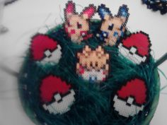 Pokemon Perler Plusle Easter Set by RetroNinNin on Etsy, $15.00
