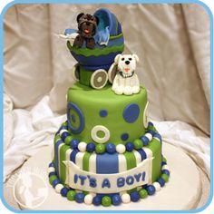 Puppy Baby Shower Cake