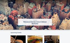 Basic, simple, and great use of imagery, Columbia University Club has a very nice site, designed by Barrel. Best Web Design, Upcoming Events, Web Design Inspiration, Design Awards, Columbia, Cool Designs, Website, Nice, Gallery