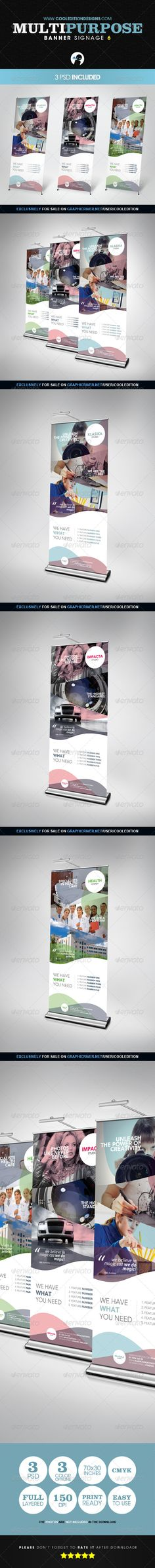Buy Multipurpose Banner Signage 6 by cooledition on GraphicRiver. Multipurpose Banner Signage 6 Suitable for: Pull Up Banner Design, Roll Up Design, Pop Up Banner, Tradeshow Banner Design, Signage Design, Brochure Design, Letterhead Template, Banner Stands, Elegant Business Cards