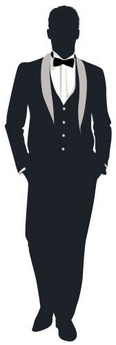 Groom Silhouette PNG Clip Art