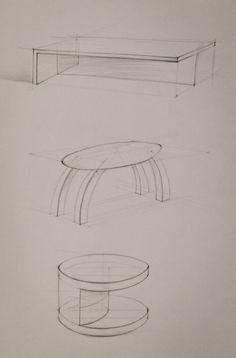 Tatsiana Artsemiuk (school of form) tables - perspective exercises