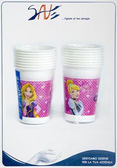 Bicchieri di plastica per feste a tema Le Principesse Disney