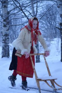 Let it snow in Mora, Dalarna, Sweden.