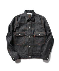 ОГНИ мужские BEAMS (Beams правах мужчин) Fullcount × BEAMS ФОНАРИ / сороковых сделанный на заказ жесткой джинсовой куртке 2-й (джинсовую куртку) | индиго
