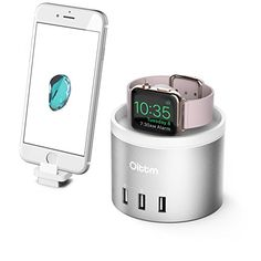 Oittm New Version Nightstand Model Charging Stand Multifunctional for Apple Watch, Smart Phone Charging Stand Dock Delicate Touching (Silver)
