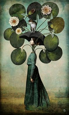 Surreal art by Christian Schloe, DREAMING OF SPRING