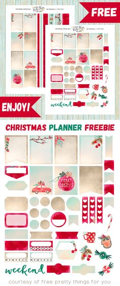 Free Christmas Planner Sticker Printables