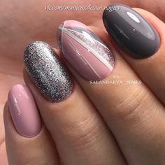 Top 100 gel nail art part 4 - Gentle nails photos Nail Art Gel Nails Art gel nails Gel Nail Designs 2018 Glitter Gel Nails, Gel Nail Art, Nail Manicure, Pink Nails, My Nails, Polish Nails, Fall Nails, Acrylic Nails, Nails Kylie Jenner