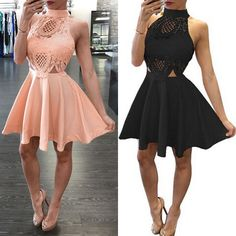 Summer Casual Sleeveless Party Evening Cocktail Short Mini Prom Dress