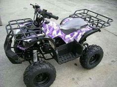 Purple camo four wheeler Quad, Redneck Girl, Purple Camo, Four Wheelers, Dirtbikes, Big Trucks, Country Girls, Monster Trucks, Stage
