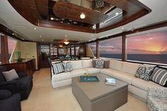 Ocean Alexander 90-Main Salon-Custom Yacht Interior Design-Destry Darr Designs