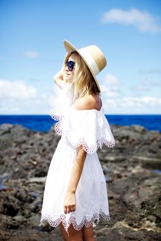 off the shoulder trend for summer in delicate white