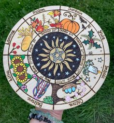 Witch Decor, Witch Art, Wooden Wheel, Wood Burning Crafts, Baby Witch, Witch Spell, Season Of The Witch, Altar Decorations, Witch House
