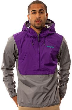 The Torrentshell Pullover Jacket in Purple by patagonia