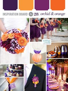 Inspiration Board #28: Orchid & Orange | Elegance & Enchantment